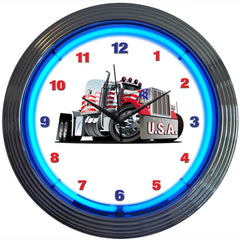 Big Rig Truck Neon Clock | Man Cave Authority | 8BGRIG