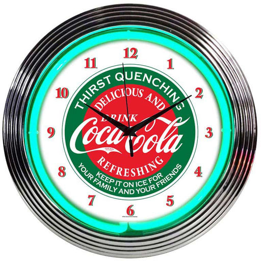 Coca-Cola Evergreen Neon Clock | Man Cave Authority | 8CCGRN