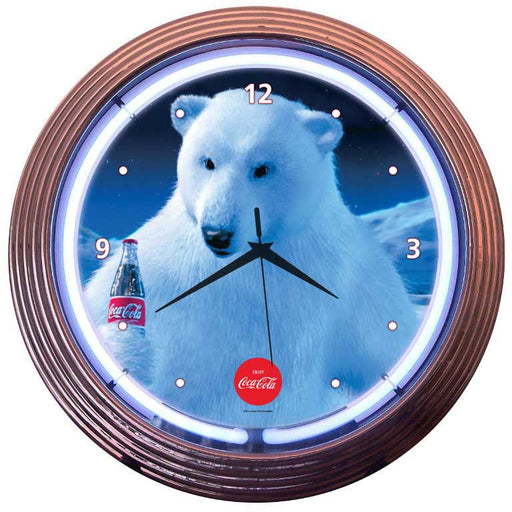 Coca-Cola Polar Bear Neon Clock | Man Cave Authority | 8CCPLR