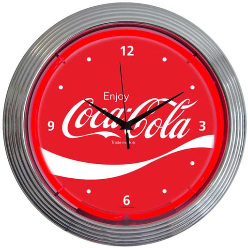 Coca-Cola Wave Neon Clock | Man Cave Authority | 8CCWAV