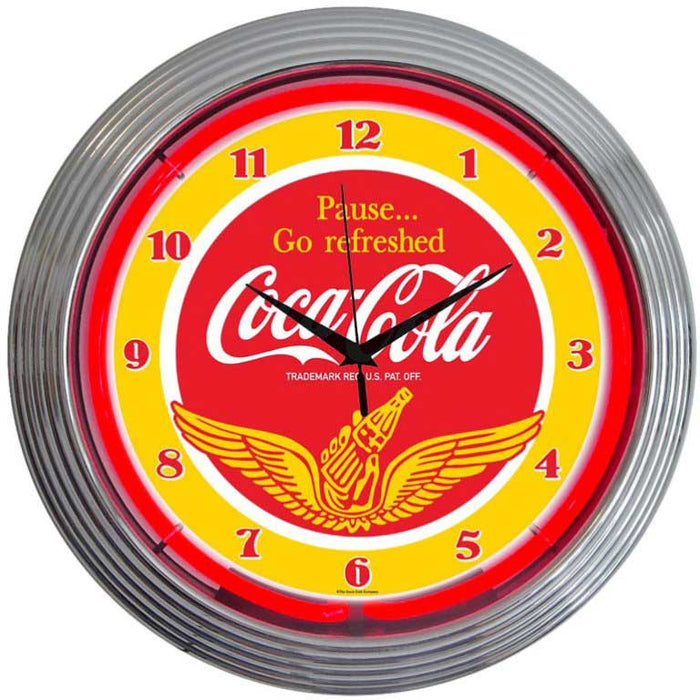 Coca-Cola Wings Neon Clock | Man Cave Authority | 8CCWNG