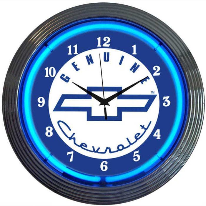 GM Genuine Chevy Neon Clock | Man Cave Authority | 8CHEVY