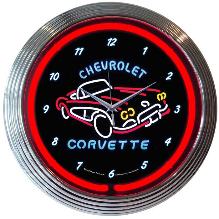 Corvette C1 Neon Clock | Man Cave Authority | 8CORV1