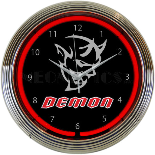 Dodge SRT Demon Red Neon Clock | Man Cave Authority | 8DEMON
