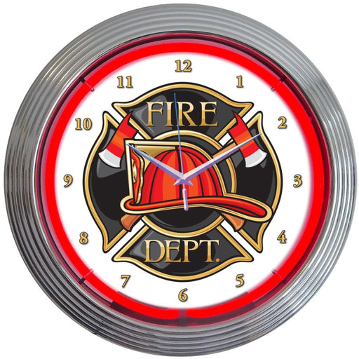 Fire Department Neon Clock | Man Cave Authority | 8FIRED