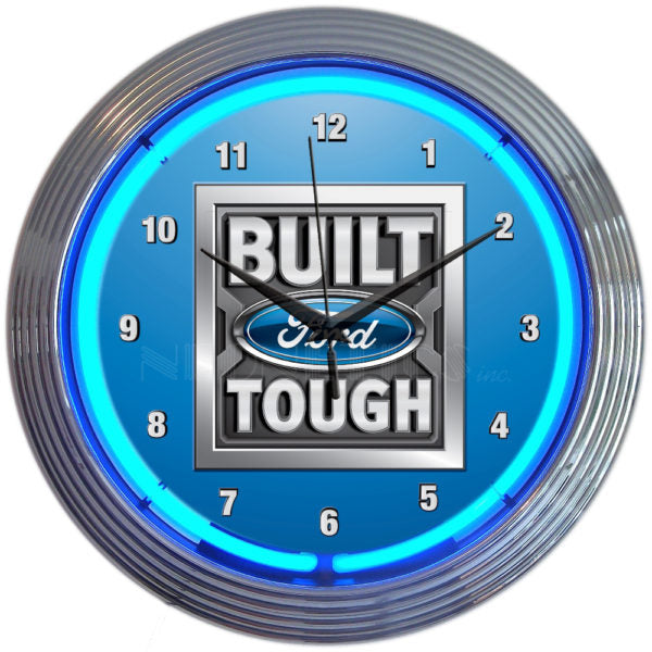 Built Ford Tough Neon Clock | Man Cave Authority | 8FRBFT
