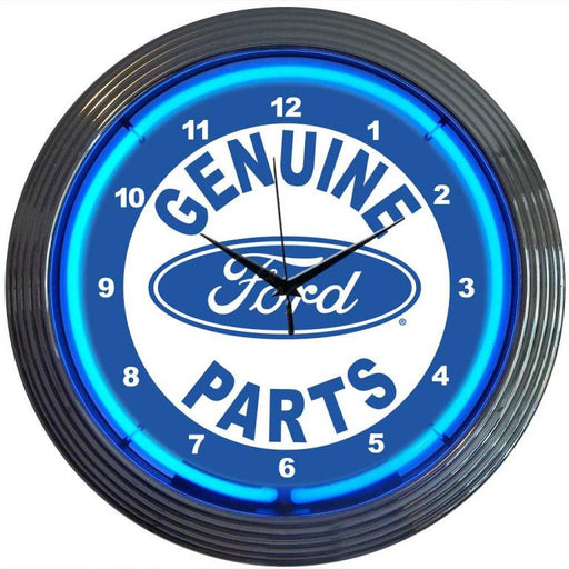 Ford Genuine Parts Neon Clock | Man Cave Authority | 8FRDGP