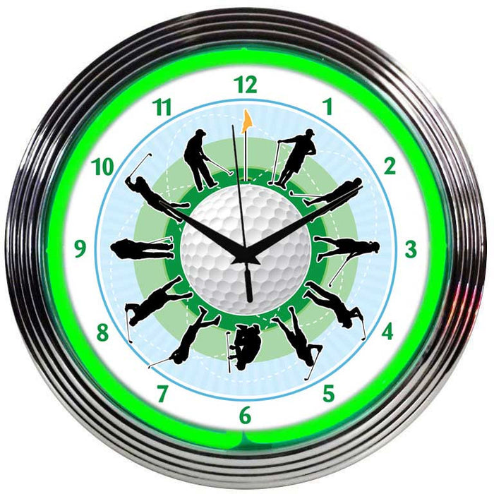 Golf Neon Clock | Man Cave Authority | 8GOLFR
