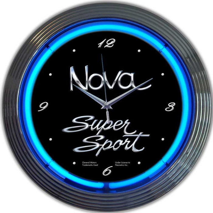 GM Chevy Nova Neon Clock | Man Cave Authority | 8NOVAX