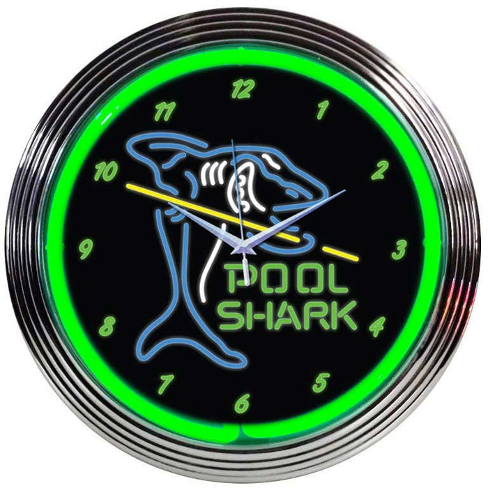 Pool Shark Neon Clock | Man Cave Authority | 8POOLS