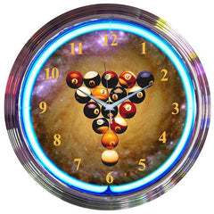 Billiards Spaceballs Neon Clock | Man Cave Authority | 8SPBAL