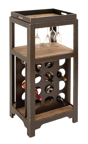 Complete Bar Cabinet and Wine Holder with Detacheable Server