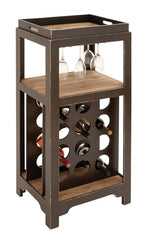 Complete Bar Cabinet and Wine Holder with Detacheable Server | Man Cave Authority | 92307