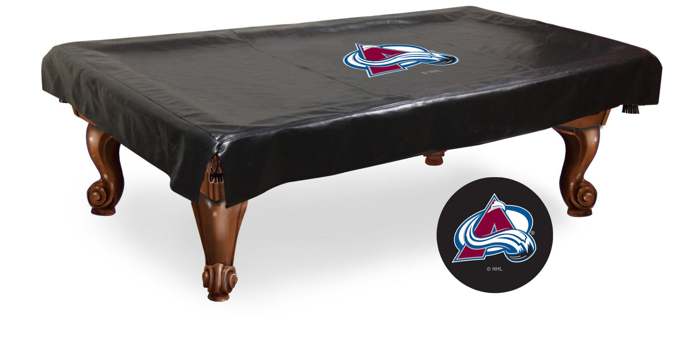Colorado Avalanche Pool Table Cover | Man Cave Authority | BTCColAva