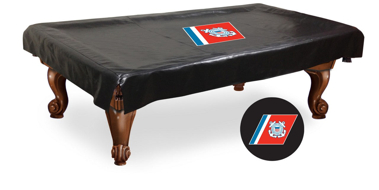 United States Coast Guard Pool Table Cover | Man Cave Authority | BTCCstGrd