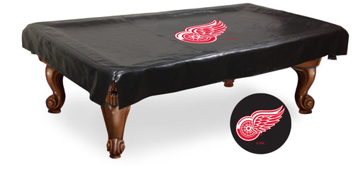 Detroit Red Wings Pool Table Cover | Man Cave Authority | BTCDetRed