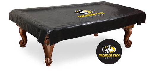 Michigan Tech University Pool Table Cover | Man Cave Authority | BTCMITech