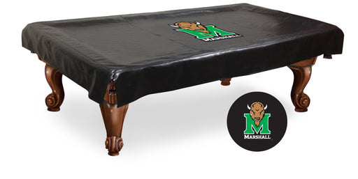Marshall University Pool Table Cover | Man Cave Authority | BTCMrshll