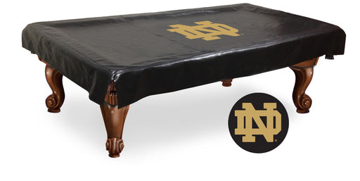 Notre Dame ND Logo Pool Table Cover | Man Cave Authority | BTCND-ND