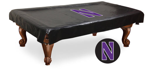 Northwestern University Pool Table Cover | Man Cave Authority | BTCNthwst