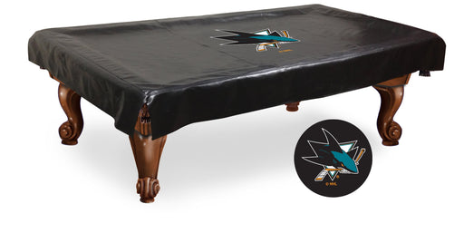 San Jose Sharks Pool Table Cover | Man Cave Authority | BTCSJShar