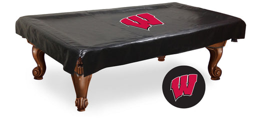 University of Wisconsin W Logo Pool Table Cover | Man Cave Authority | BTCWisc-W