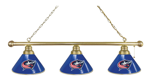 Columbus Blue Jackets 3 Shade Lamp | Man Cave Authority | BL3BRColBlu