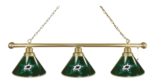 Dallas Stars 3 Shade Lamp | Man Cave Authority | BL3BRDalSta