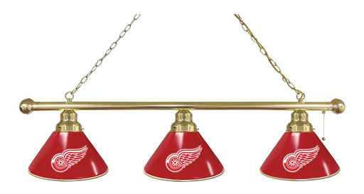 Detroit Red Wings 3 Shade Lamp | Man Cave Authority | BL3BRDetRed