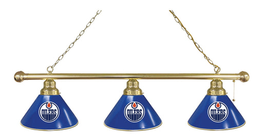 Edmonton Oilers 3 Shade Lamp | Man Cave Authority | BL3BREdmOil
