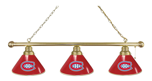 Montreal Canadiens 3 Shade Lamp | Man Cave Authority | BL3BRMonCan