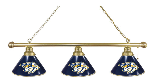 Nashville Predators 3 Shade Lamp | Man Cave Authority | BL3BRNshPre