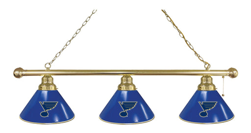 St Louis Blues 3 Shade Lamp | Man Cave Authority | BL3BRSTLBlu