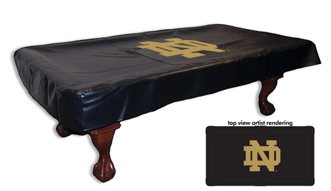 Notre Dame ND Logo Pool Table Cover