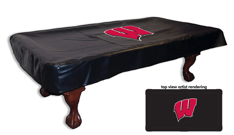 University of Wisconsin W Logo Pool Table Cover