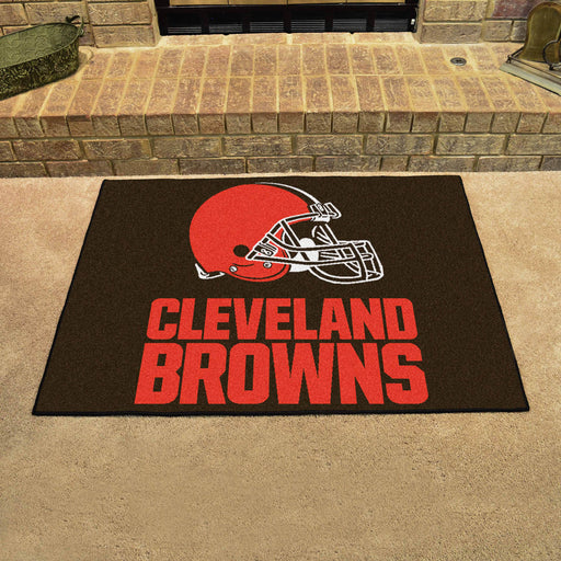 Cleveland Browns All Star Mat | Man Cave Authority | 5702 View 2
