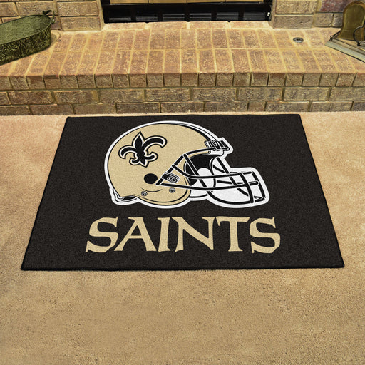 New Orleans Saints All Star Mat | Man Cave Authority | 5767 View 2