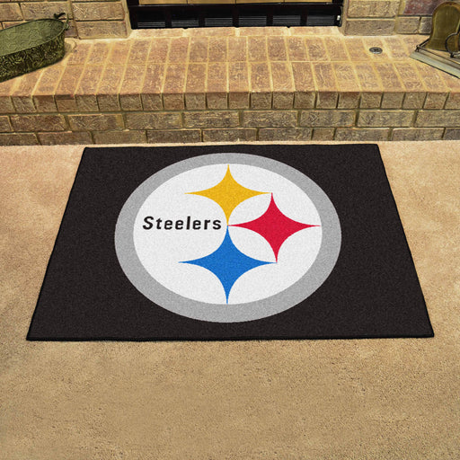 Pittsburgh Steelers All Star Mat | Man Cave Authority | 5825 View 2