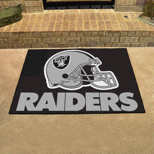 Oakland Raiders All Star Mat | Man Cave Authority | 5933 View 2