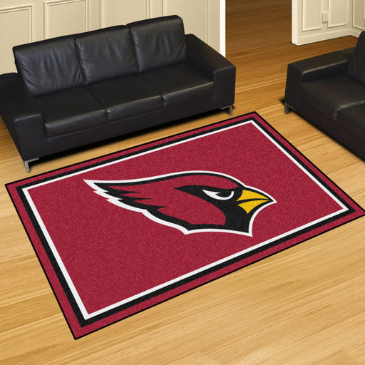 Arizona Cardinals 5x8 Rug | Man Cave Authority | 6557 View 2