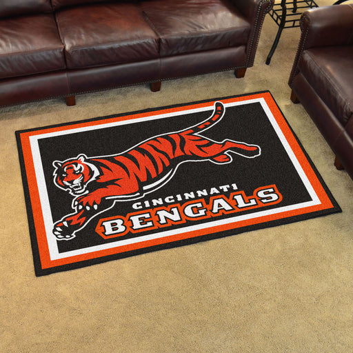Cincinnati Bengals 4x6 Rug | Man Cave Authority | 6568 View 2