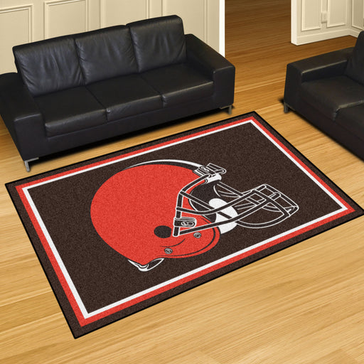 Cleveland Browns 4x6 Rug | Man Cave Authority | 6571 View 2