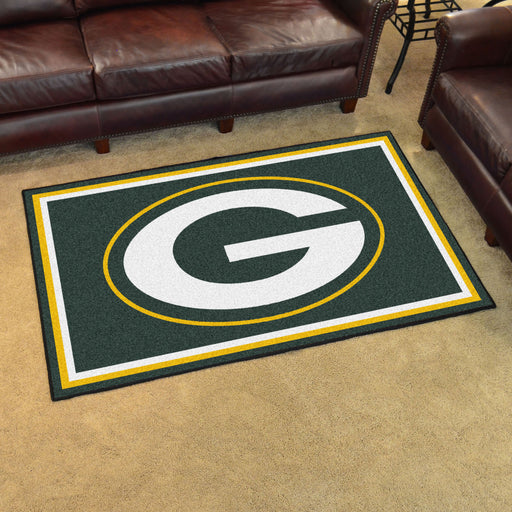 Green Bay Packers 4x6 Rug | Man Cave Authority | 6577 View 2