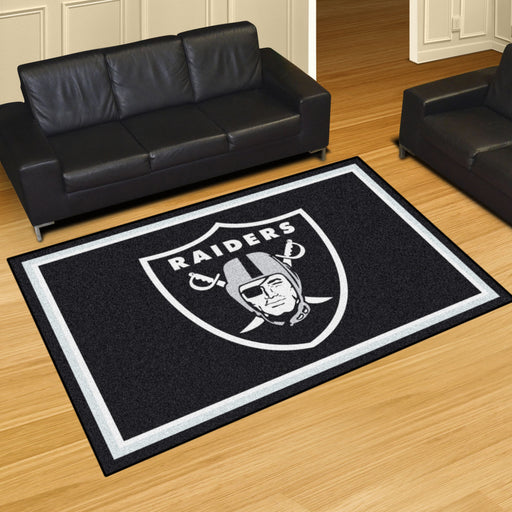 Oakland Raiders 4x6 Rug | Man Cave Authority | 6598 View 2