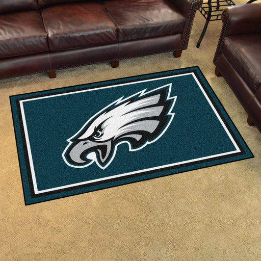 Philadelphia Eagles 4x6 Rug | Man Cave Authority | 6600 View 2