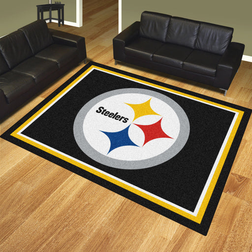 Pittsburgh Steelers 8x10 Rug | Man Cave Authority | 17389 View 2