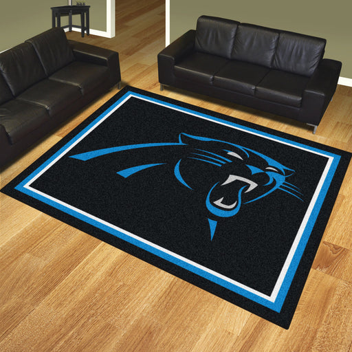 Carolina Panthers 8x10 Rug | Man Cave Authority | 17476 View 2