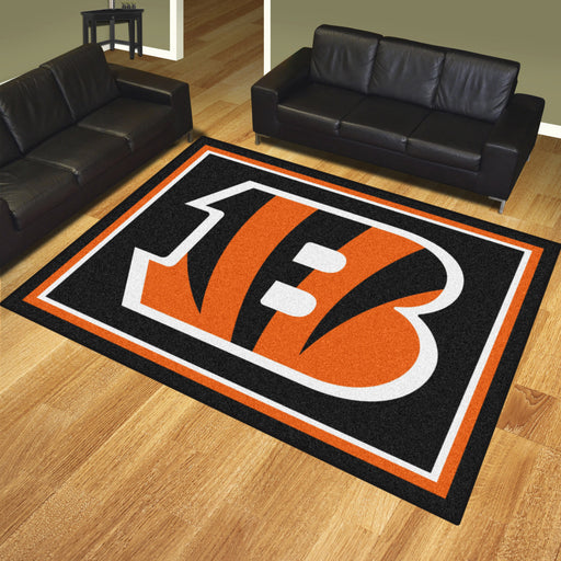 Cincinnati Bengals 8x10 Rug | Man Cave Authority | 17478 View 2