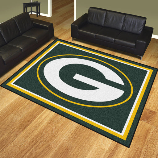 Green Bay Packers 8x10 Rug | Man Cave Authority | 17482 View 2
