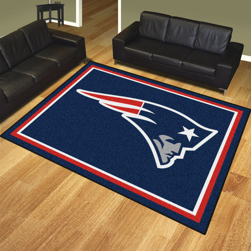 New England Patriots 8x10 Rug | Man Cave Authority | 17489 View 2